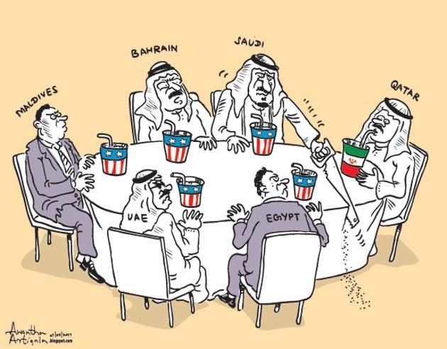 ilustrasi Qatar vs saudi
