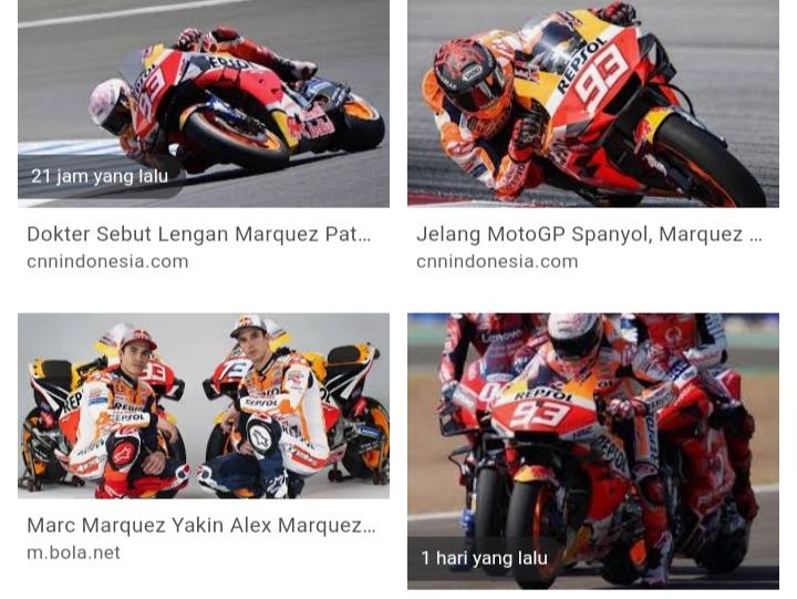 Marc Marquez jatuh