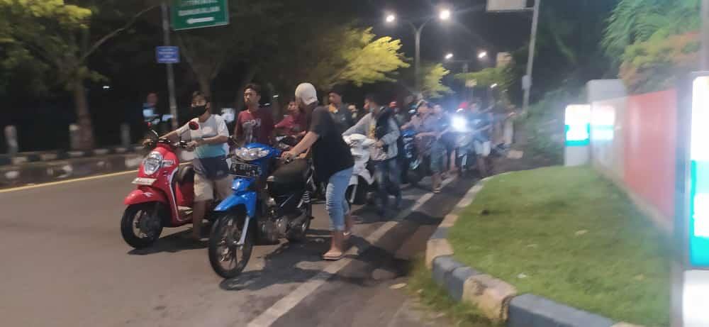 Puluhan Remaja terciduk balapan liar di jalan kembar