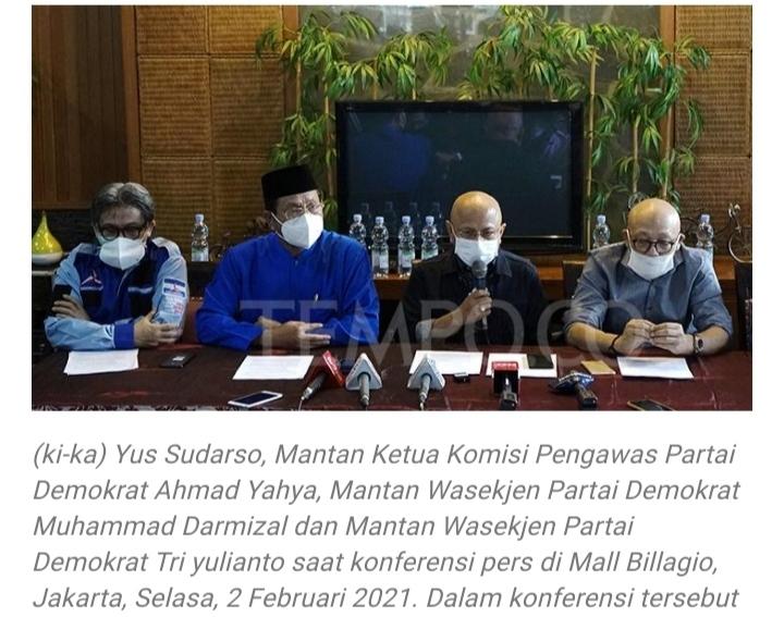 Pemerintah Tolak Pendaftaran KLB Demokrat Kubu Moeldoko