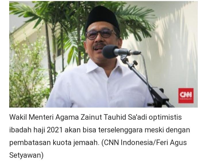 Ini Alasan  Wamenag Optimis Haji 2021 Dibuka